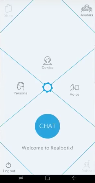 realbotix harmony app home screen